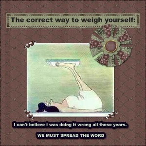 I WISH this was the way to weigh!
